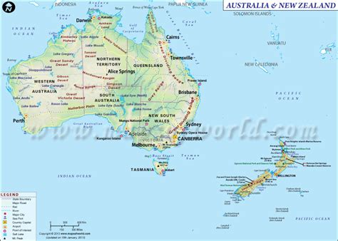 map showing australia and new zealand map of australia and new zealand maps