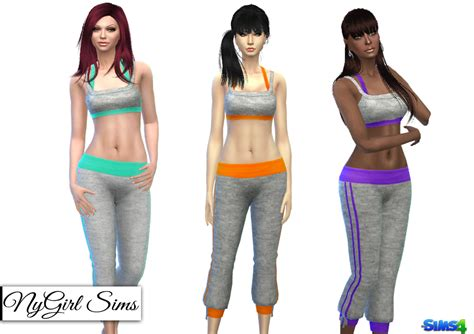 The Cropped Sweatpant nygirl sims 4 hatchi knit cropped sweatpant and tank top
