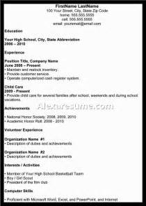 high school resume for college admissions - High School Resume Examples For College Admission