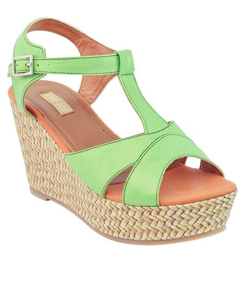 green wedge sandals fabfoot green wedge sandals price in india buy fabfoot