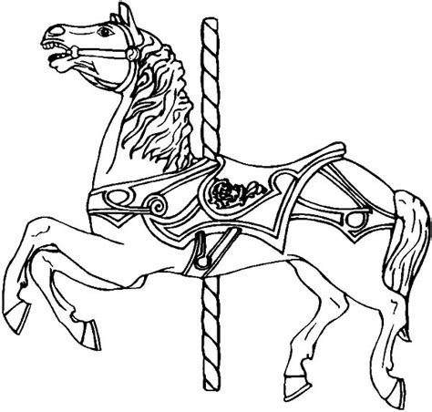 coloring pages of carousel horses carousel coloring pages for best place to color