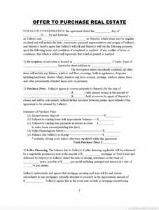 pdf printable offer to purchase real estate pro buyer