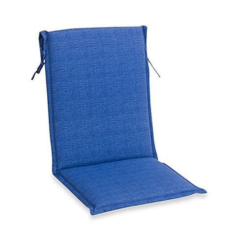 Buy Outdoor Sling Back Chair Cushion In Blue From Bed Bath Blue Sling Patio Chair