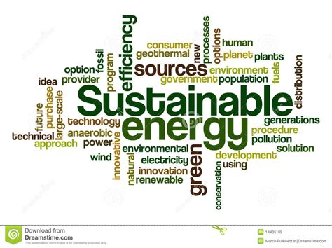 Sustainable Energy Word Cloud Royalty Free Stock Photo