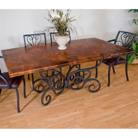 copper top dining room tables dining table copper covered dining table