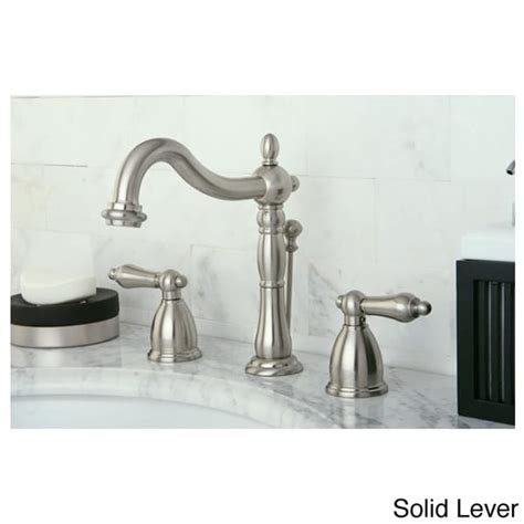 Vintage Bathroom Faucets by Vintage Satin Nickel Widespread Bathroom Faucet 13457684 Overstock Shopping Great
