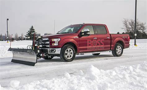 ford demonstrates  snow plow option