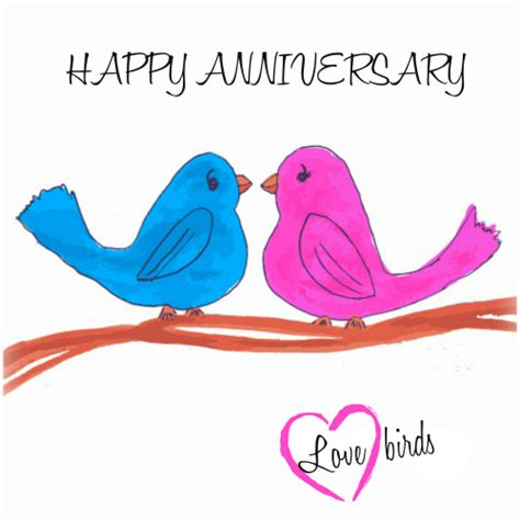 Wedding Anniversary Greetings Email by Happy Anniversary Lovebirds Free To A Ecards