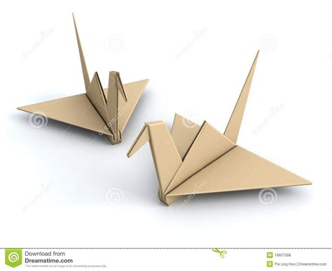 Origami Peace Sign - peace concept origami crane paper bird stock illustration