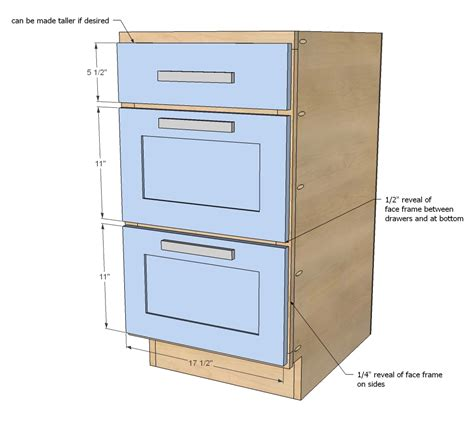 """Ana White   18"""" Kitchen Cabinet Drawer Base   DIY Projects"""
