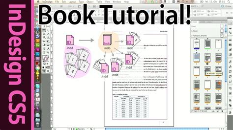 indesign template for book advanced indesign book tutorial part 13 youtube