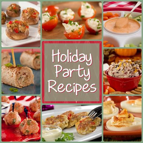 jolly christmas party recipes 12 holiday party recipes