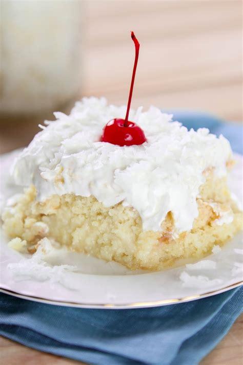 pina coconut cake recipe pina colada poke cake baking beauty