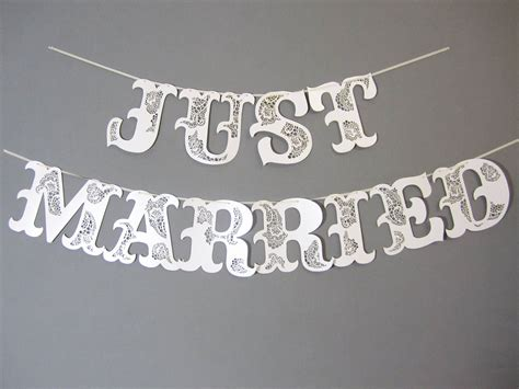Wedding Banner Just Married by Large Just Married Wedding Banner