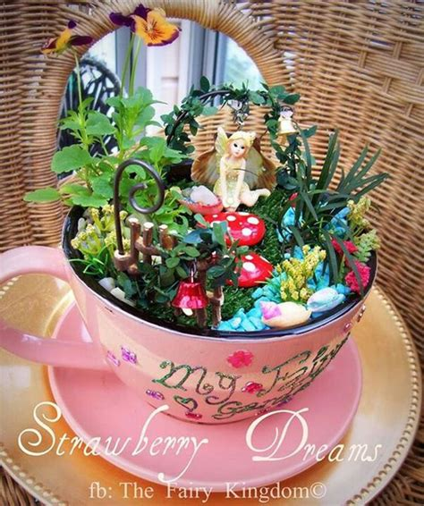Bookcase Murphy Bed 14 Cute Teacup Mini Gardens Ideas Page 3 Of 3
