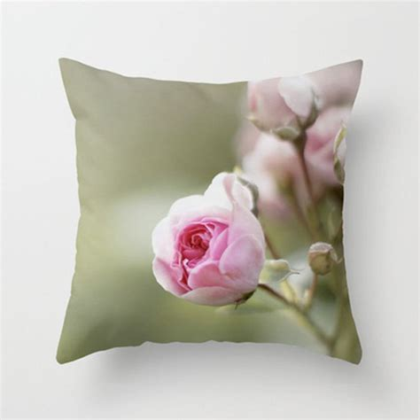 Pink And Green Decorative Pillows by Pink And Green Cottage Chic Decorative Pillow Cover Pink