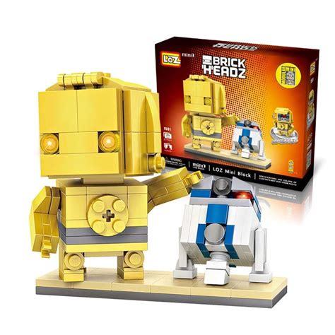 loz 1501 c3po r2d2 wars robot brick headz tipo lego r2d2 c3po 309 00