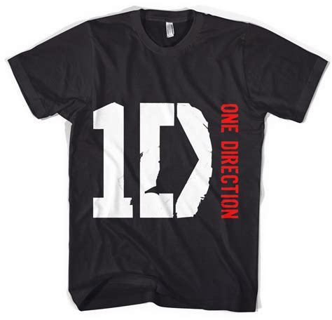 1d Shirt Black one direction logo shirt chainimage