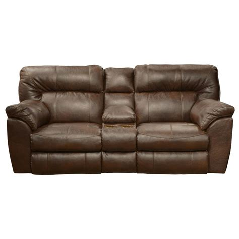 Catnapper Loveseat Recliner by Catnapper Nolan Leather Reclining Loveseat In Chestnut