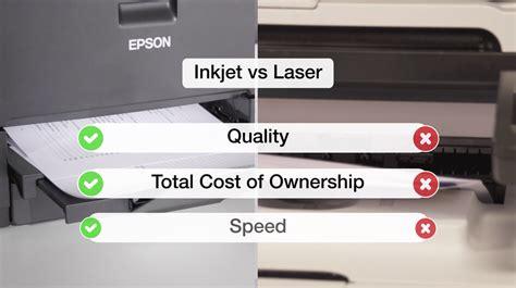 color laser vs inkjet epson inkjet printers vs laser printers