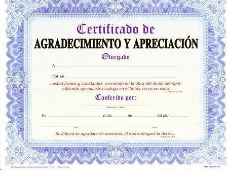 agradecimiento cristiano letras certificado de agradecimiento y apreciacion paq 15