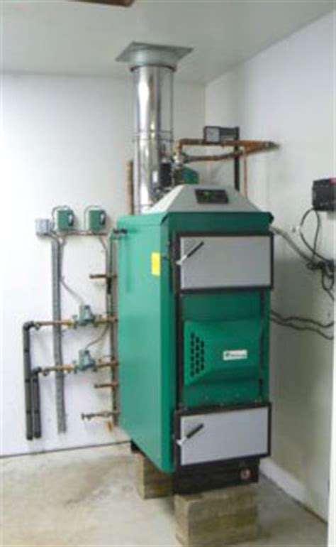 central heat from wood, pellets, corn or coal