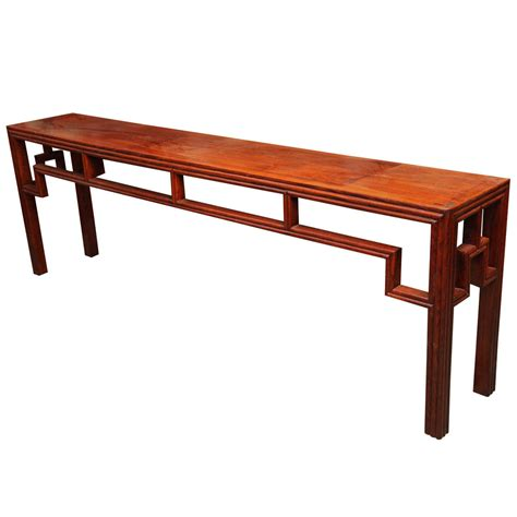 Unusual Long Antique Elm Wood Console Table For Sale At Sofa Tables On Sale