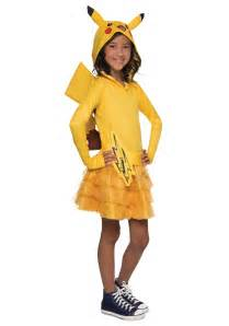 Pokemon Costumes Girls Pikachu Hoodie Dress