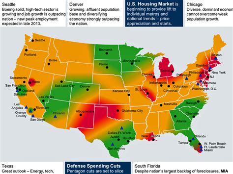 america economic map us regional economic map nov 2013 business insider