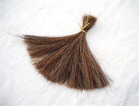 hairby minklittle 8 inch real horse hair by the ounce tail hair animal fur brown