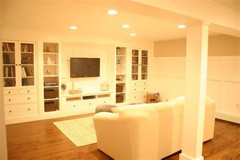 ikea built ins a basement update tour ikea built in wall units and