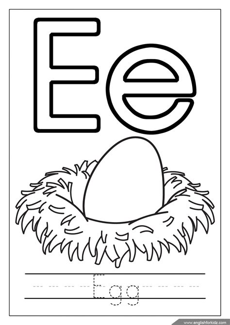 Letter E Coloring Page by Printable Alphabet Coloring Pages Letters A J