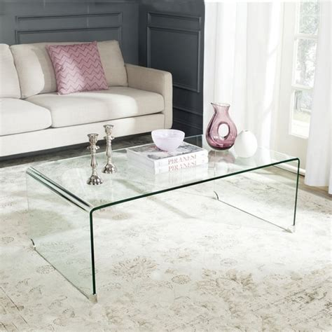 clear acrylic waterfall console table coffee table lucite