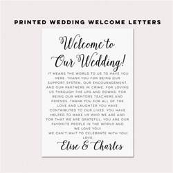 wedding welcome letters wedding itineraries wedding