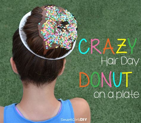 cool hair donut crazy hair day donut on a plate hair pinterest