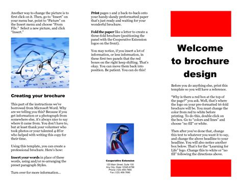 word templates for brochures free microsoft word brochure template document survey