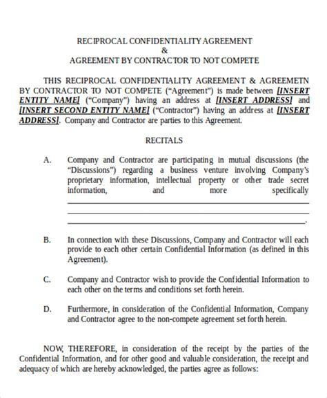 Non Disclosure Agreement Sle Form 10 Sle Exle Arsiptembi
