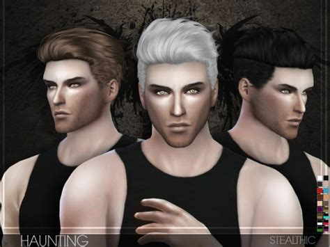 sims 4 cc guys hair the sims resource stealthic haunting male hair sims