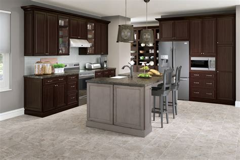 cardell kitchen cabinets knowlton cherry  peppercorn