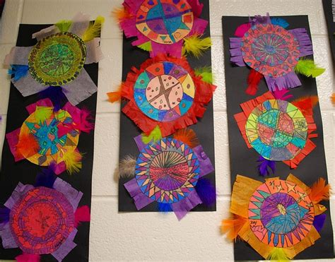 aztec crafts for aztec feather shield multicultural lessons