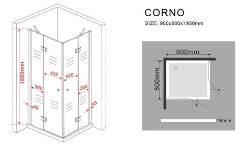 Duschkabinen Für Badewannen by Duschkabine Corno 80 X 90 X 195 Cm Ohne Duschtasse