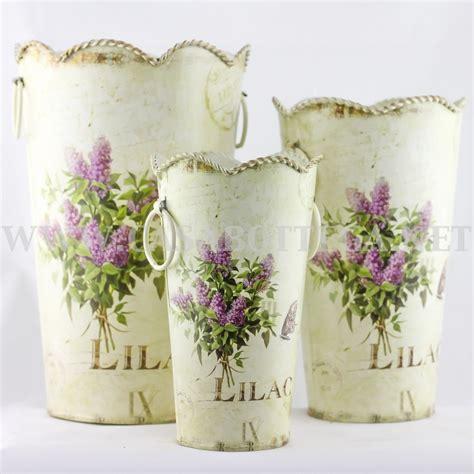 vasi decoupage brocca vaso contenitore porta fiori in latta decoupage