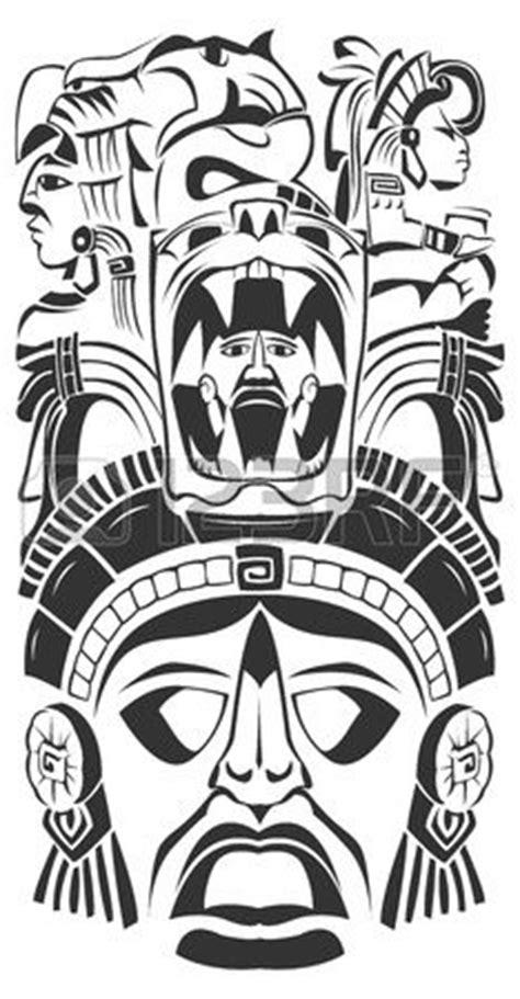 imagenes de totems aztecas las 25 mejores ideas sobre tatuajes mayas en pinterest y