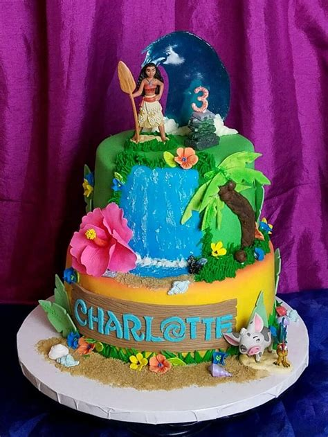 Unbelievable Moana cake for my daughter Charlotte's 3rd