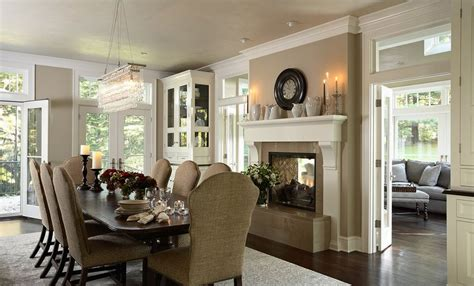 Dining Room And Fireplace 20 Gorgeous Two Sided Fireplaces For Your Spacious Homes