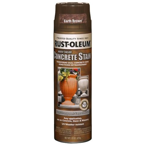 spray paint earth rust oleum concrete stain 15 oz earth brown spray paint