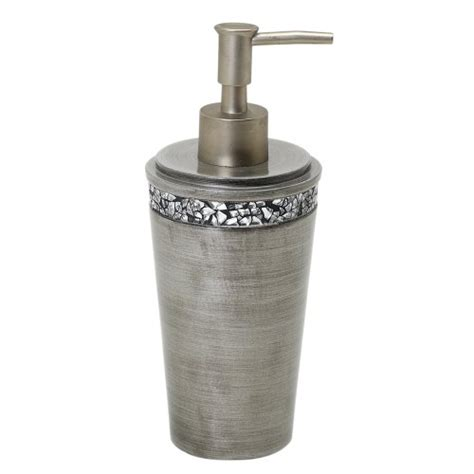 pewter bathroom accessories zenna home india ink altair lotion or soap dispenser