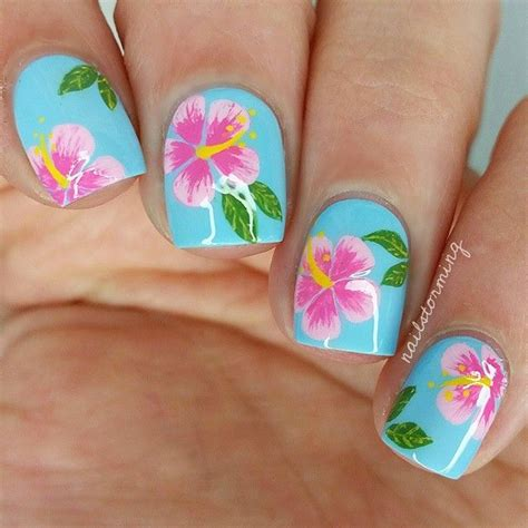 How To Do Hawaiian Flower Nail