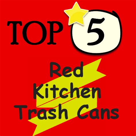 red kitchen trash cans decorative kitchen garbage cans