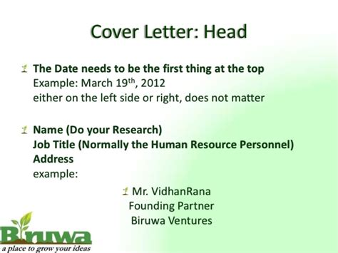 Cover Letter For Ppt Cover Letter Presentation
